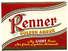 Renner Golden Amber Beer Label