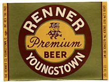 Renner Youngstown Premium Beer Label