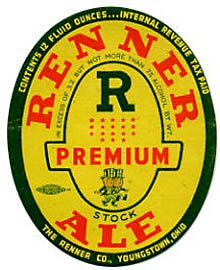 Renner Premium Stock Ale Beer Label