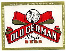 Old German Style Beer Label