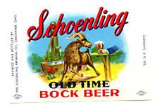 Schoenling Old Time Bock Beer Label