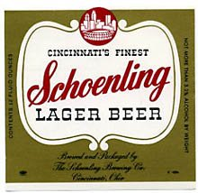 Schoenling Lager Beer Label