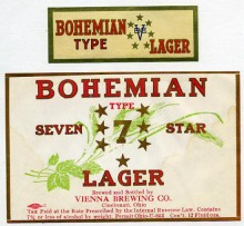 Bohemian 7 Star Lager Beer Label