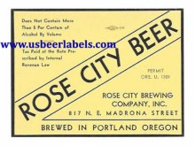 Rose City Beer Beer Label
