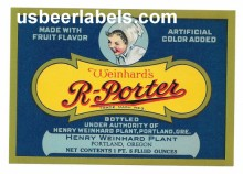 R-Porter Beer Label