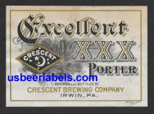 Excellent XXX Porter Beer Label