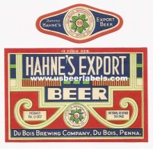 Hahnes Export Beer Label