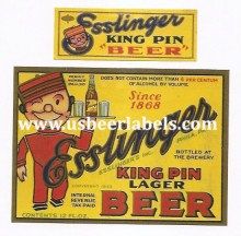 Esslinger King Pin Lager Beer Label