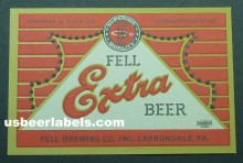 Fell Extra Beer Label