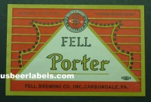 Fell Porter Beer Label