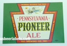Pennsylvania Pioneer Ale Beer Label