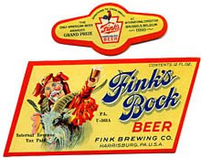 Fink's Bock Beer Label