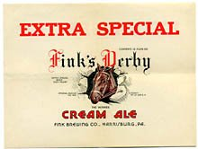 Fink's Derby Cream Ale Beer Label