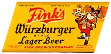 Fink's  Wurzburger Style Lager Beer Label