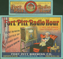 Fort Pitt Radio Hour Beer Label