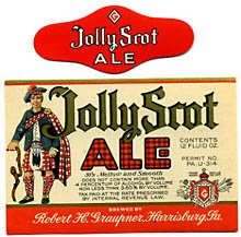 Jolly Scot Ale Beer Label