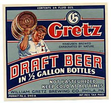 Gretz Draft Beer Label