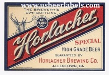 Beer Label Horlacher Special High Grade
