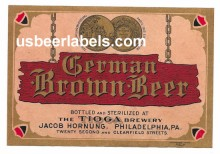 German Brown Beer Beer Label