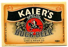 Kaiers Special Bock Beer Label