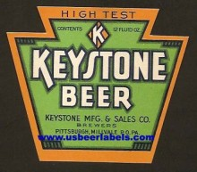 Keystone Beer Label