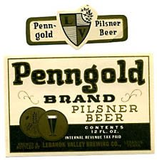 Penn Gold Brand Pilsner Beer Label