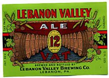 Lebanon Valley 12 Vat Ale Beer Label