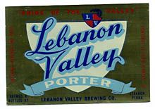 Lebanon Valley Porter Beer Label