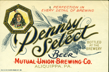 Pennsy Select Beer Label