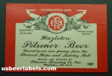 Hazleton Pilsner Beer Label