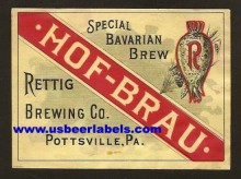 Hof Brau Beer Label