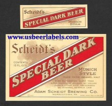 Scheidts Special Dark Beer Beer Label