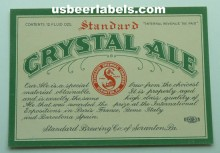 Crystal Ale Beer Label