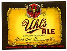 Uhl's Ale Beer Label