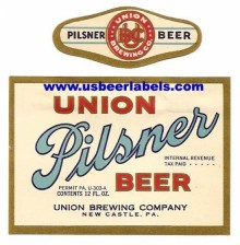 Union Pilsner Beer Label