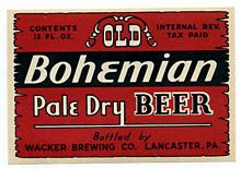 Old Bohemian Pale Dry Beer Label
