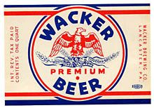 Wacker Premium Beer Beer Label