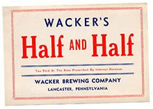 Wackers Half & Half Beer Label