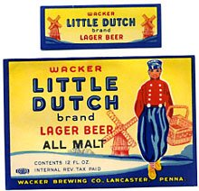 Little Dutch Brand Lager Beer Label