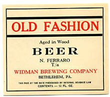 Old Fashion Beer Label