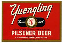 Yuengling Pilsener Beer Label