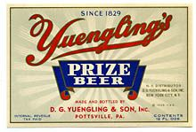 Yuenglings Prize Beer Beer Label