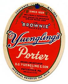 Yuenglings Brownie Porter Beer Label