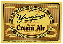 Olde Oxford Cream Ale Beer Label