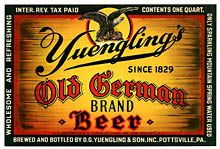 Yuenglings Old German Beer Label