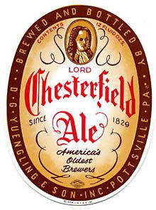 Lord Chesterfield Ale Beer Label