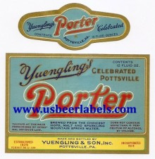 Yuenglings Porter Beer Label