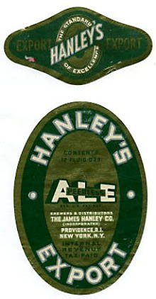Hanleys Peerless Ale Export Beer Label
