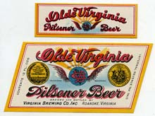 Olde Virginia Ale Beer Label