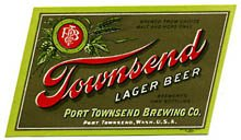 Townsend Lager Beer Label